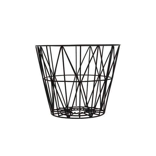 ferm living wire kurv i sort