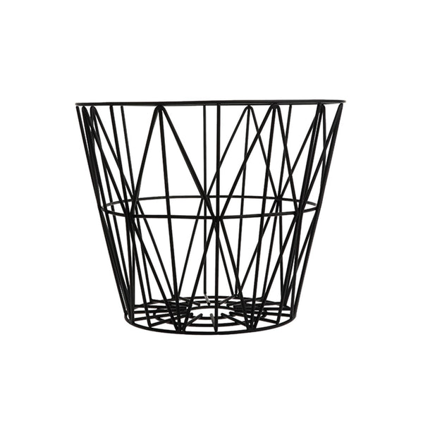 ferm LIVING Wire kurv i svart - Medium-Designfund.no