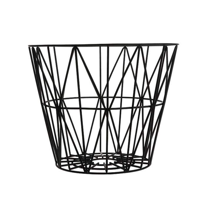 ferm LIVING Wire kurv i svart - Large-Designfund.no