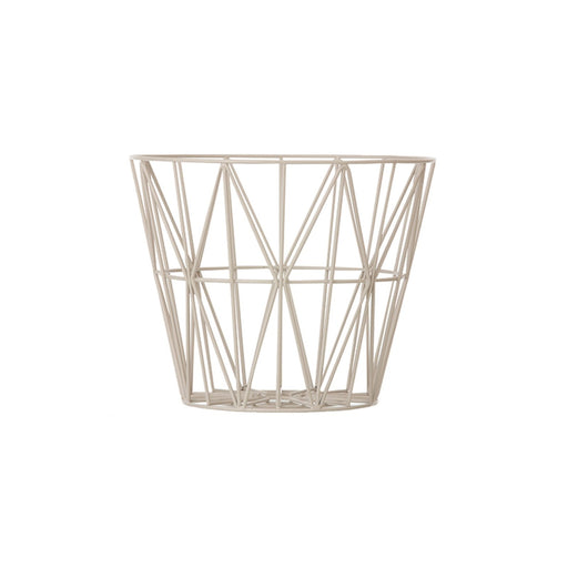 ferm LIVING Wire Basket - grå - Small-Designfund.no