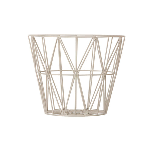 ferm LIVING Wire Basket - grå - Medium-Designfund.no
