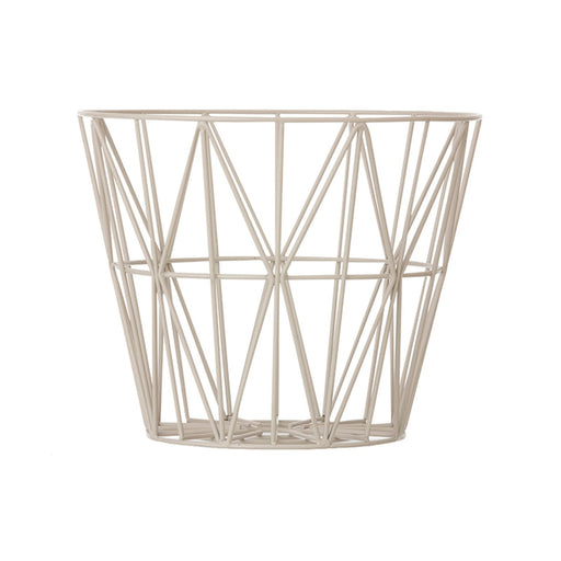 ferm LIVING Wire Basket - Grå - Large-Designfund.no