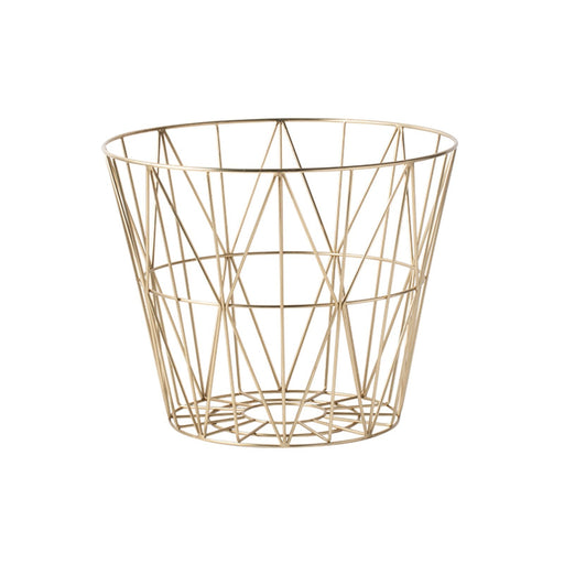 ferm LIVING Wire Basket - Messing - large-Designfund.no