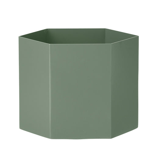ferm LIVING Hexagon potte - dusty green - XL-Designfund.no