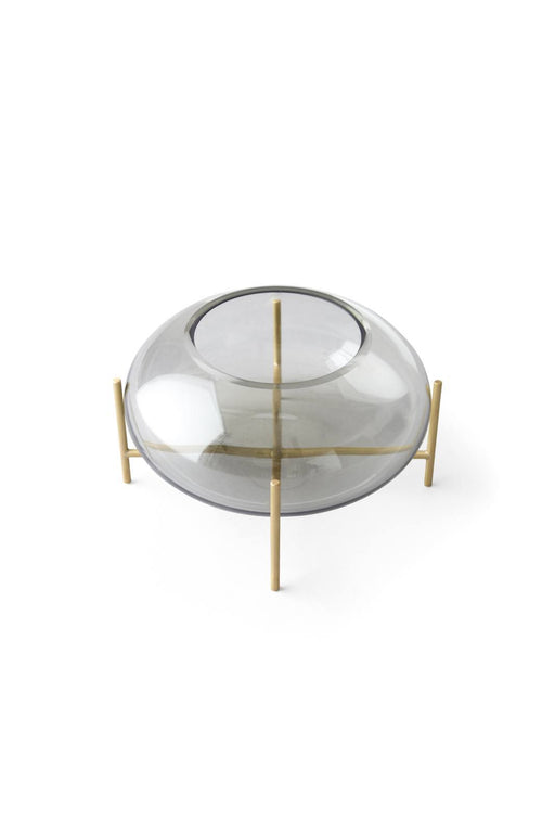 Menu Echasse lysestake - Smoke/Brushed Brass