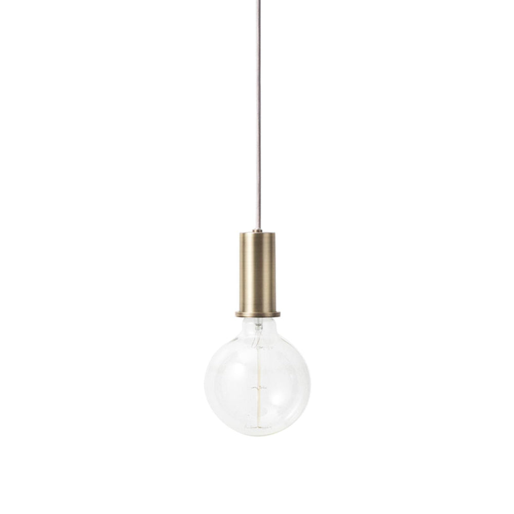 ferm living socket pendellampe lav i messing