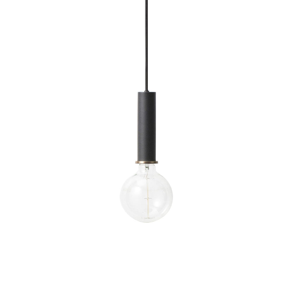 ferm living socket pendellampe hoj i sort