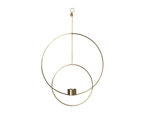 Ferm Living hanging tealight - Rund - Messing-Designfund.no
