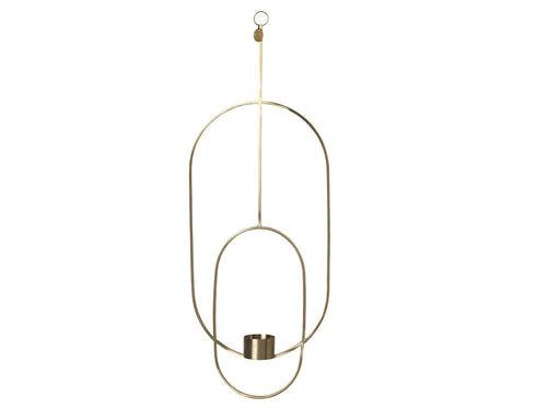 Ferm Living hanging tealight - Oval - Messing-Designfund.no