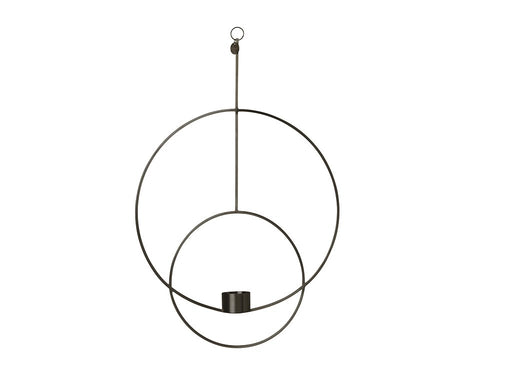 Ferm Living hanging tealight - Rund - Svart-Designfund.no