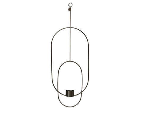 Ferm Living hanging tealight - Oval - Svart-Designfund.no