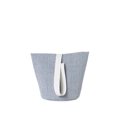ferm Living Chambray Kurv - medium - blå-Designfund.no