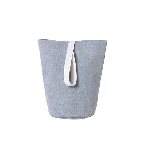 ferm Living Chambray Kurv - large - blå-Designfund.no