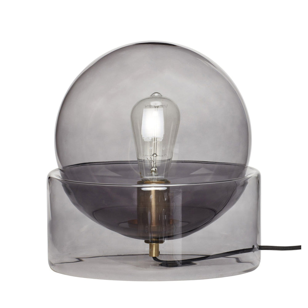 hubsch bordlampe av glass smoke