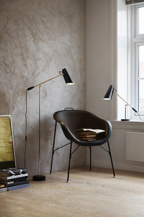 northern birdy gulvlampe black brass