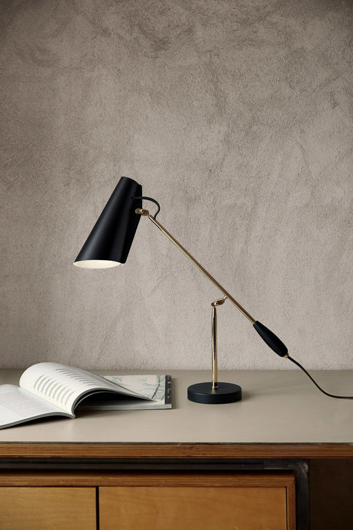 northern birdy bordlampe black brass
