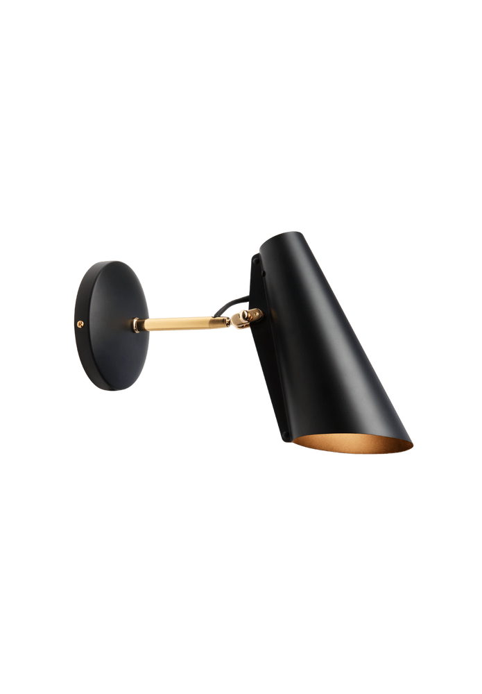 northern birdy kort vegglampe black brass