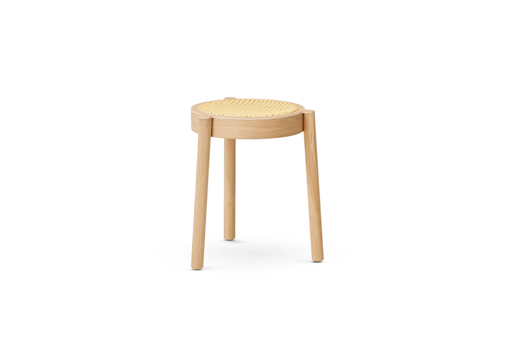 northern pal krakk light oiled oak cane mesh seat