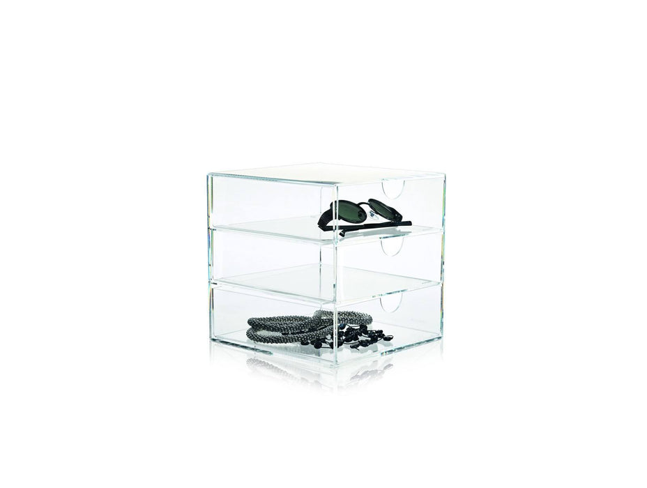 clear 3 drawer fra nomess 20 x 20 x 20 cm