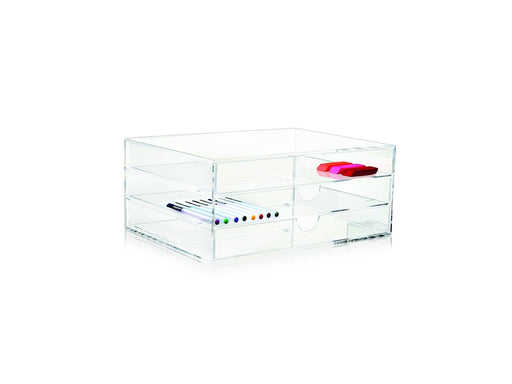 Nomess Clear 3-drawer Box - A4-Designfund.no