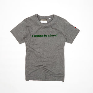 ADORED - MARL - FOREST FLOCKED ORGANIC TEE