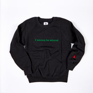JUNIOR ADORED BLACK / GREEN FLOCK PRINT SWEAT
