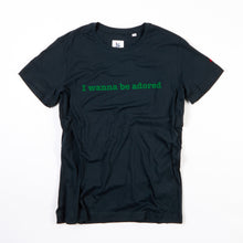Load image into Gallery viewer, ADORED - NAVY / GREEN FLOCKED ORGANIC TEE