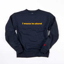 Load image into Gallery viewer, ADORED NAVY / YELLOW FLOCK SWEATSHIRT