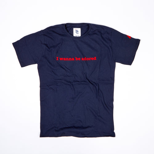JUNIOR ADORED NAVY / RED FLOCK T-SHIRT