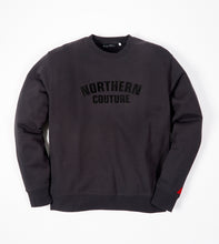Load image into Gallery viewer, NORTHERN COUTURE BLACK FLOCK SWEAT