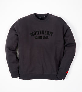 NORTHERN COUTURE BLACK FLOCK SWEAT