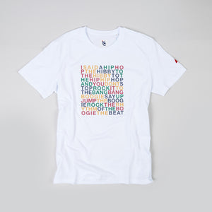 HIP HOP VIBES WHITE T-SHIRT