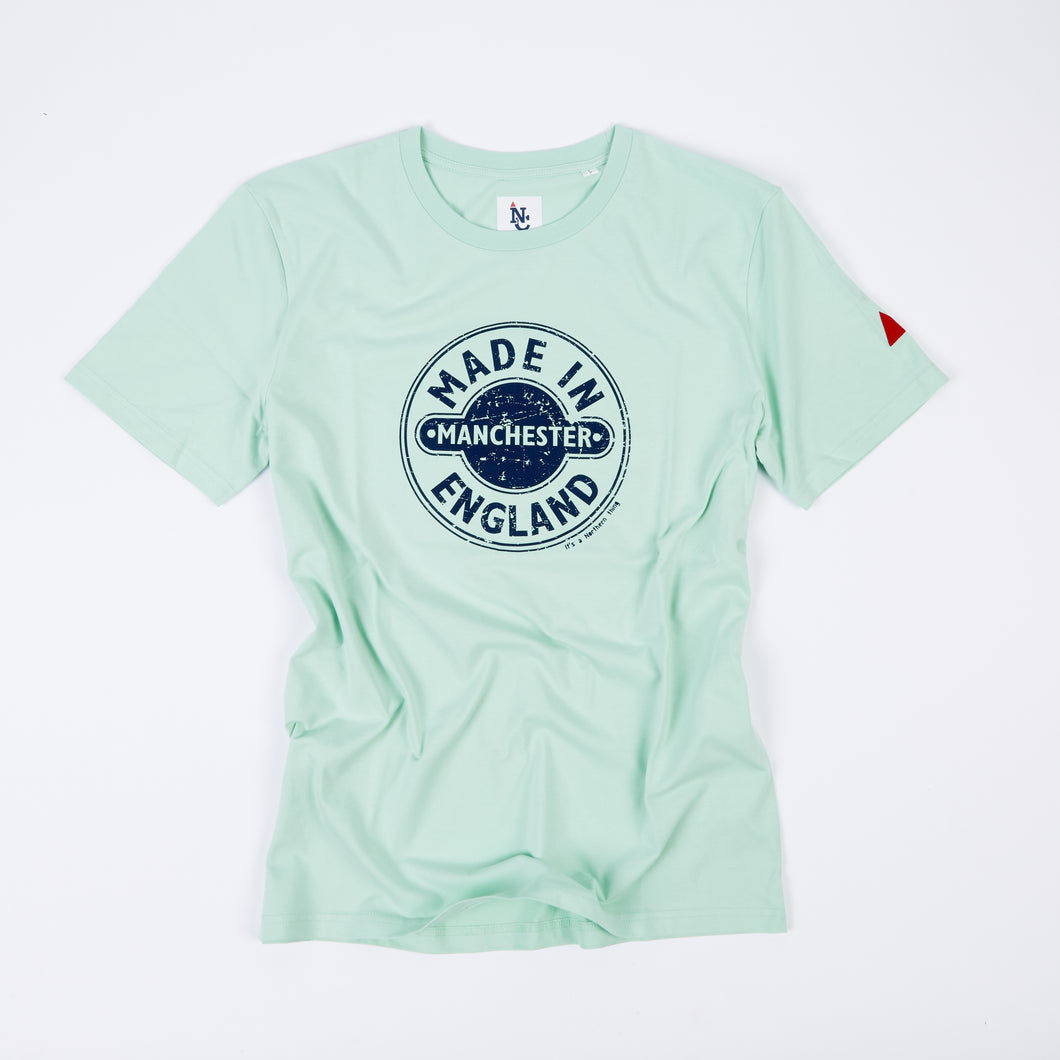 MIM - MADE IN MANCHESTER MINT/NAVY DTG ORGANIC TEE