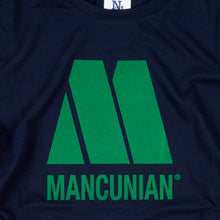 Load image into Gallery viewer, THE SOUND OF MANCUNIA NAVY T-SHIRT