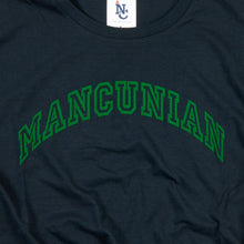 Load image into Gallery viewer, MANCUNIAN FOREST FLOCK ON NAVY ORGANIC TEE