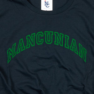 MANCUNIAN FOREST FLOCK ON NAVY ORGANIC TEE
