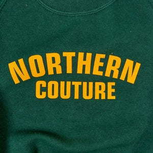 JUNIOR NORTHERN COUTURE GREEN / YELLOW FLOCK PRINT SWEAT