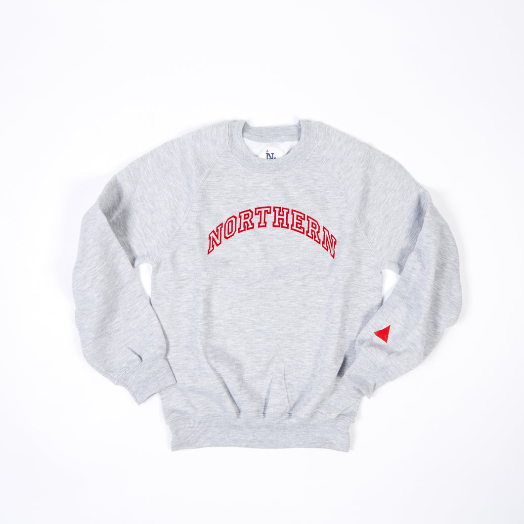 JUNIOR NORTHERN MARL / RED FLOCK PRINT SWEAT