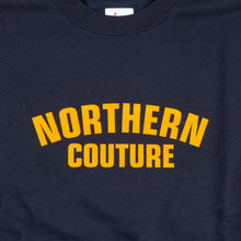 Load image into Gallery viewer, NORTHERN COUTURE NAVY / YELLOW FLOCK SWEATSHIRT