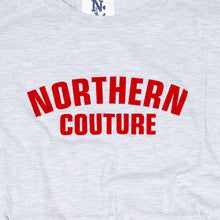 Load image into Gallery viewer, JUNIOR NORTHERN COUTURE MARL / RED FLOCK PRINT T-SHIRT