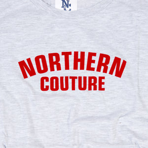 JUNIOR NORTHERN COUTURE MARL / RED FLOCK PRINT T-SHIRT