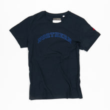 Load image into Gallery viewer, NORTHERN NAVY / ROYAL FLOCK ORGANC TEE