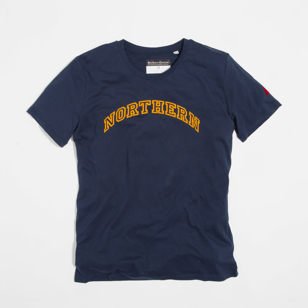 NORTHERN FLOCK NAVY ORGANIC TEE