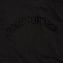 Load image into Gallery viewer, MANCUNIAN BLACK FLOCK ORGANIC TEE