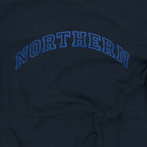 NORTHERN NAVY / ROYAL FLOCK ORGANC TEE