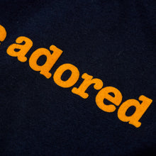 Load image into Gallery viewer, ADORED - FLOCKED NAVY / YELLOW ORGANIC TEE