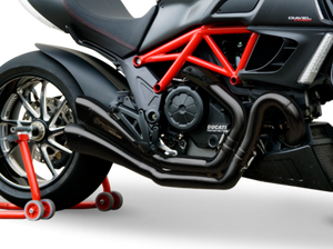 "HP CORSE Ducati Diavel Dual Slip-on Exhaust ""Hydroform Factory Black"" (racing only)"