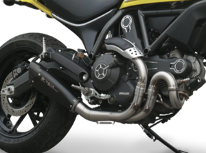 "HP CORSE Ducati Scrambler 800 Slip-on Exhaust ""Evoxtreme 260 Black"" (EU homologated)"