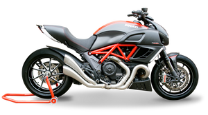 "HP CORSE Ducati Diavel Dual Slip-on Exhaust ""Hydroform Evolution Satin"" (EU homologated)"