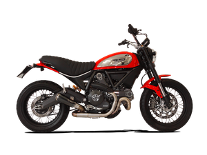 "HP CORSE Ducati Scrambler 800 Slip-on Exhaust ""GP07"" (EU homologated, snail pipe)"
